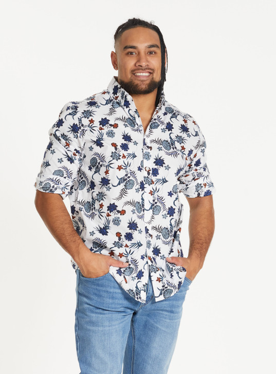 WILLIS FLORAL STRETCH SHIRT