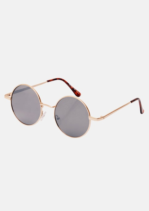 ROSE GOLD ANDY ROUND SUNGLASSES