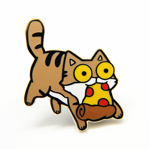 Pizza Thief Enamel Pin