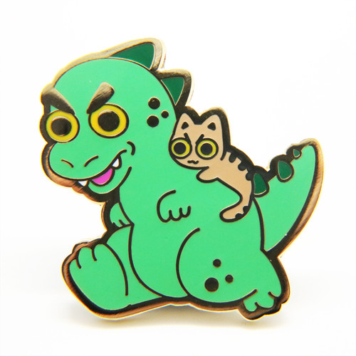 Kaiju Cat Enamel Pin