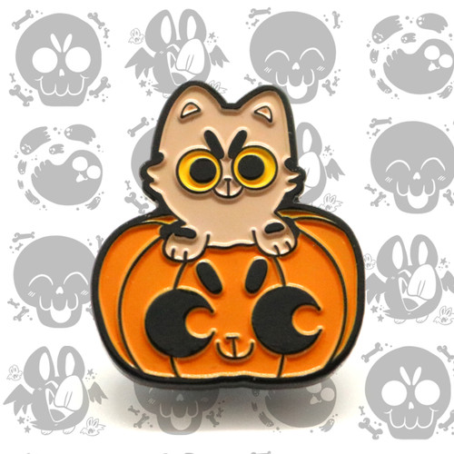 Pumpkin Cat Enamel Pin