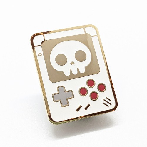 Video Game Skull Enamel Pin (Glow in the dark)