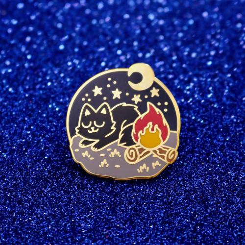 Campfire Cat Enamel Pin