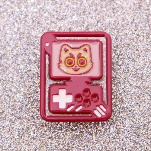 Super Videogame Cat Clear Enamel Pin