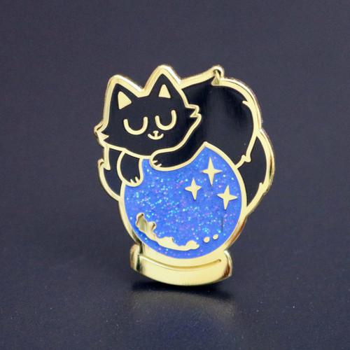 Crystal Ball Cat Enamel Pin