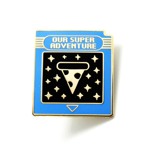 Our Super Adventure Game Cartridge Enamel Pin