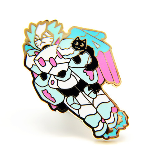 Mecha Cat Enamel Pin