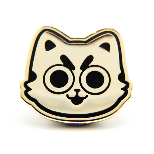Gold Pesto Cat Enamel Pin