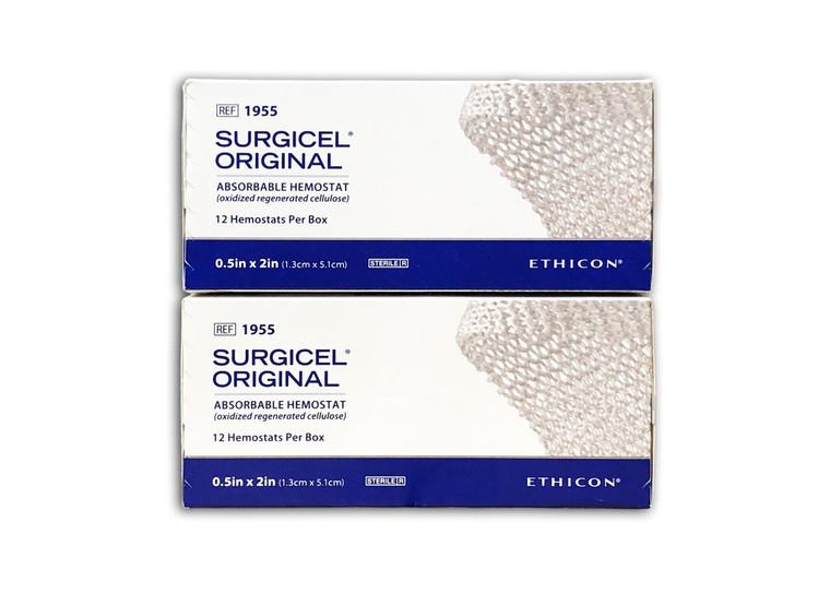 """Surgicel 1955 - Original Hemostat, 0.5"""" x 2"""""""
