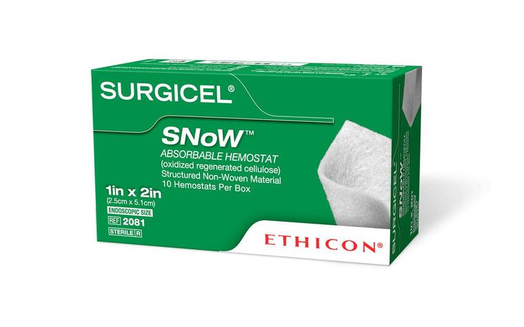 "Surgicel 2081 - SNoW® Hemostat, 1"" x 2"""