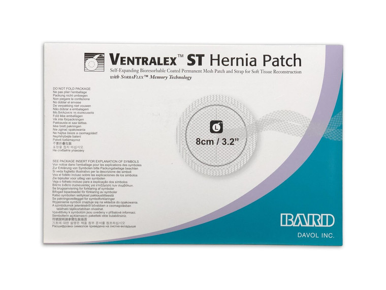 Bard  5950009 - Ventralex ST Hernia Patch, Large Circle W/Strap 8CM - Each