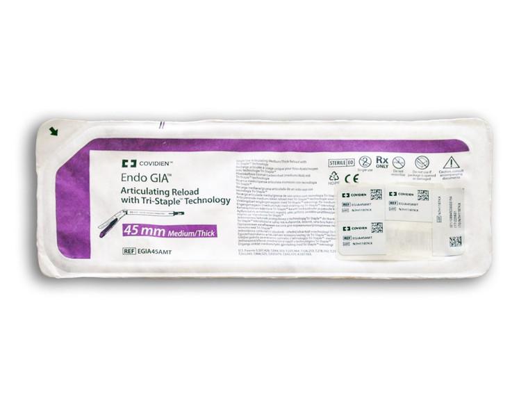 Covidien EGIA45AMT - Endo GIA Articulating Medium/Thick Tri-Staple Reload 45.0mm (Purple)