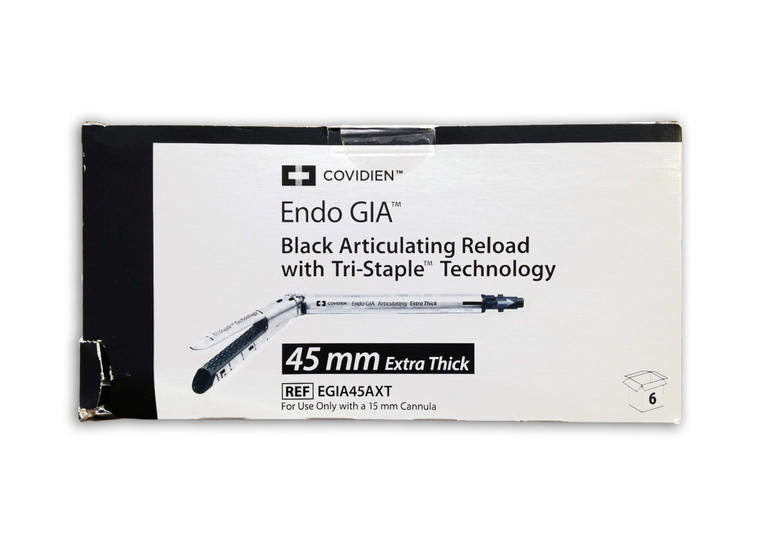 Covidien EGIA45AXT - Endo GIA Articulating Extra Thick Tri-Staple Reload 45.0mm (Black)