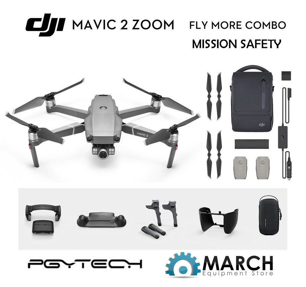 Mavic 2 Zoom Fly More Combo - Mission Safety Package