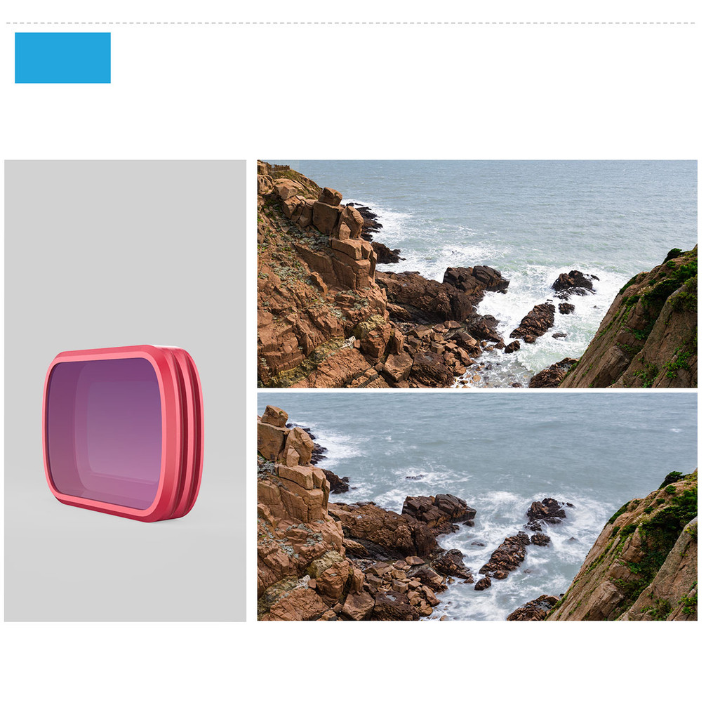 Filter for Osmo Pocket - NDPL Set (ND8/PL ND16/PL ND32/PL ND64/PL (Professional)
