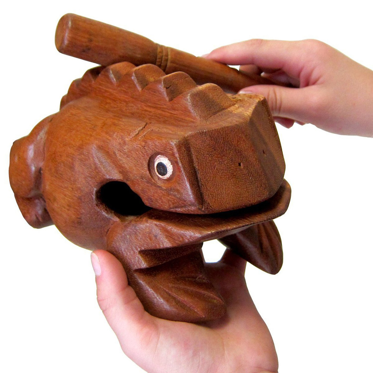 Frog Wood Craved Instrument Percussion Crocking Rasp Music Sound Tone Small Size