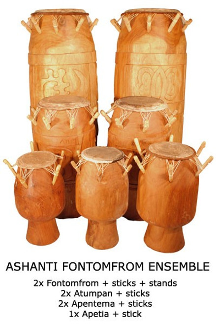 Other African Drums - Ghana Peg Drums - Djembe Direct