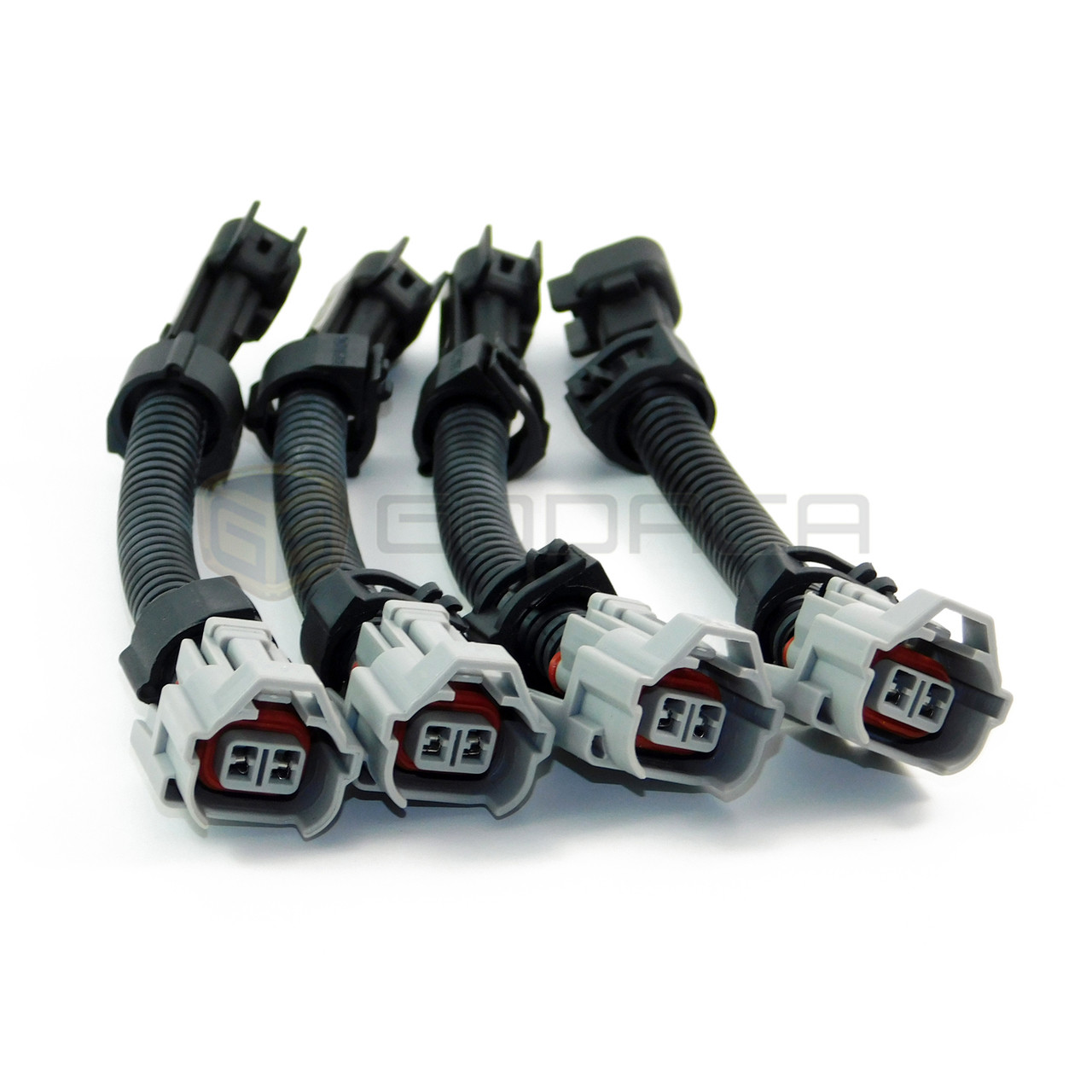 """EV1 Female to Denso Male Fuel Injector Connector  Adapter 3/"""" long 4 Box"""