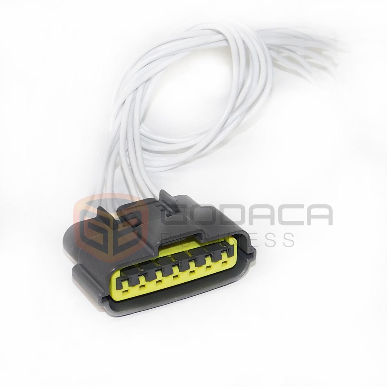 1x 7-way repair connector pigtail for nissan infiniti igniter coil loom  side - godaca, llc