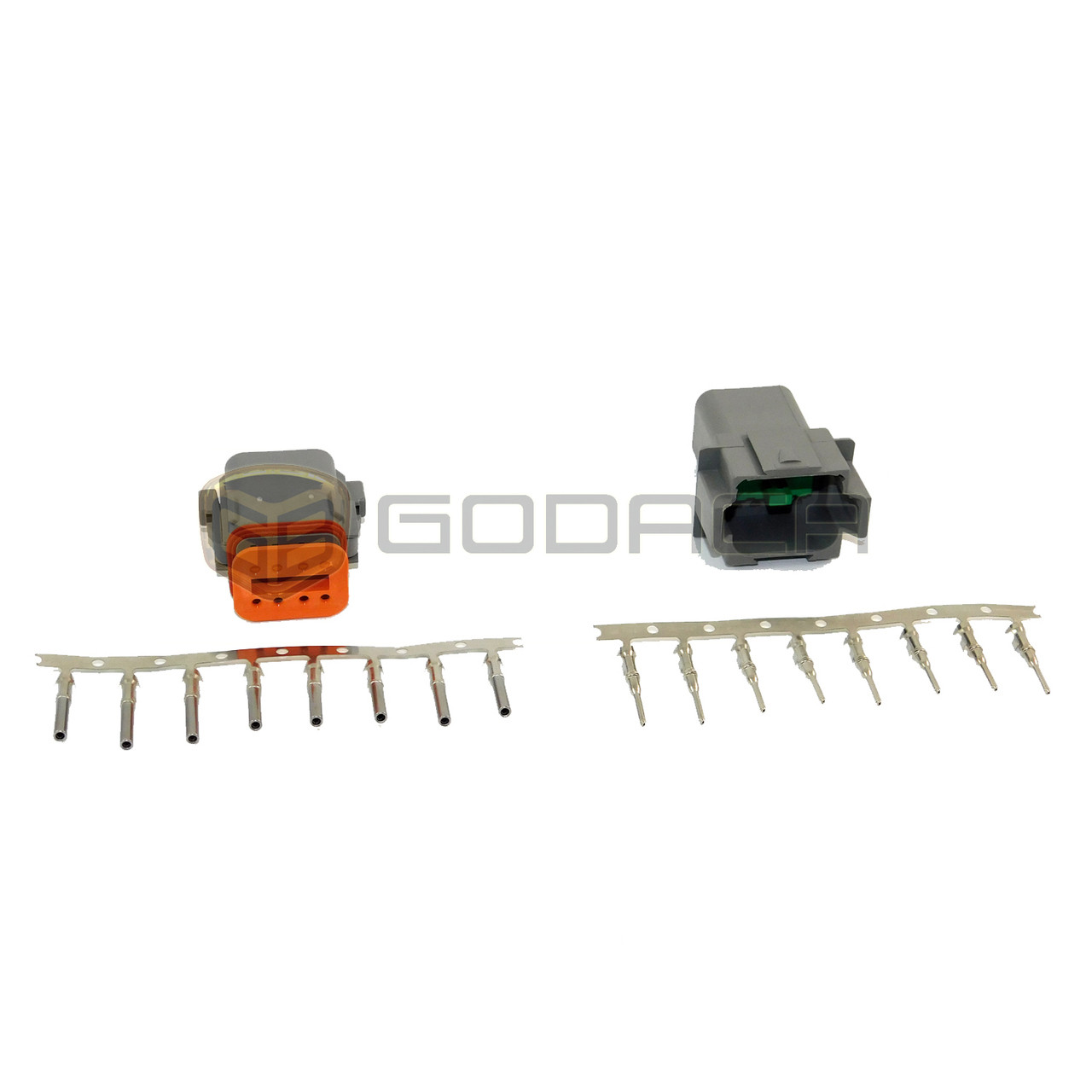1x 8 Pin Female and male Connector DTM Deutsch 08SA 08PA w//out wire