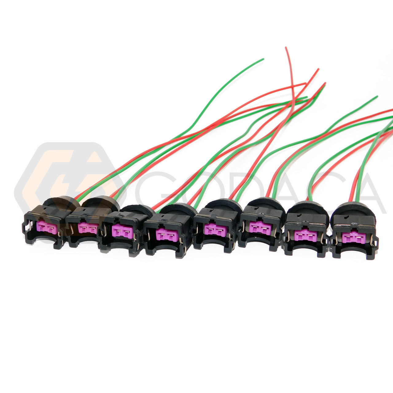 replacement parts 4x wiring harness uscar ev6 ev14 to nippon denso fuel  injector adapter godaca