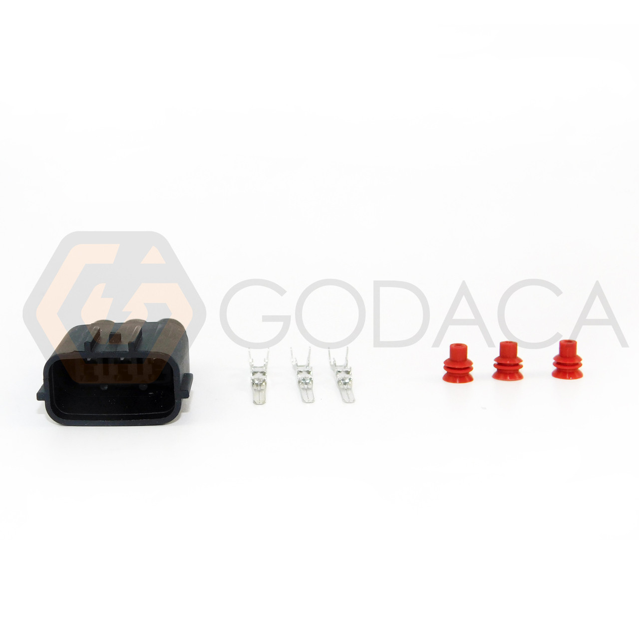 1x male connector for mazda nissan 3-pin coil plug rb25 sr20 w/out wire -  godaca, llc
