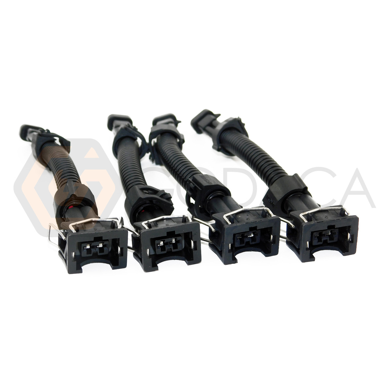 4x Wiring Harness LS1 LS6 LT1 EV1 to Mini Delphi LQ4, LQ9 Fuel injector  Adapter
