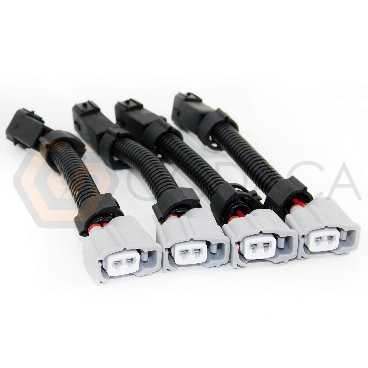 4x wiring harness adapter for fuel injector toyota to obd2 honda rh godaca com