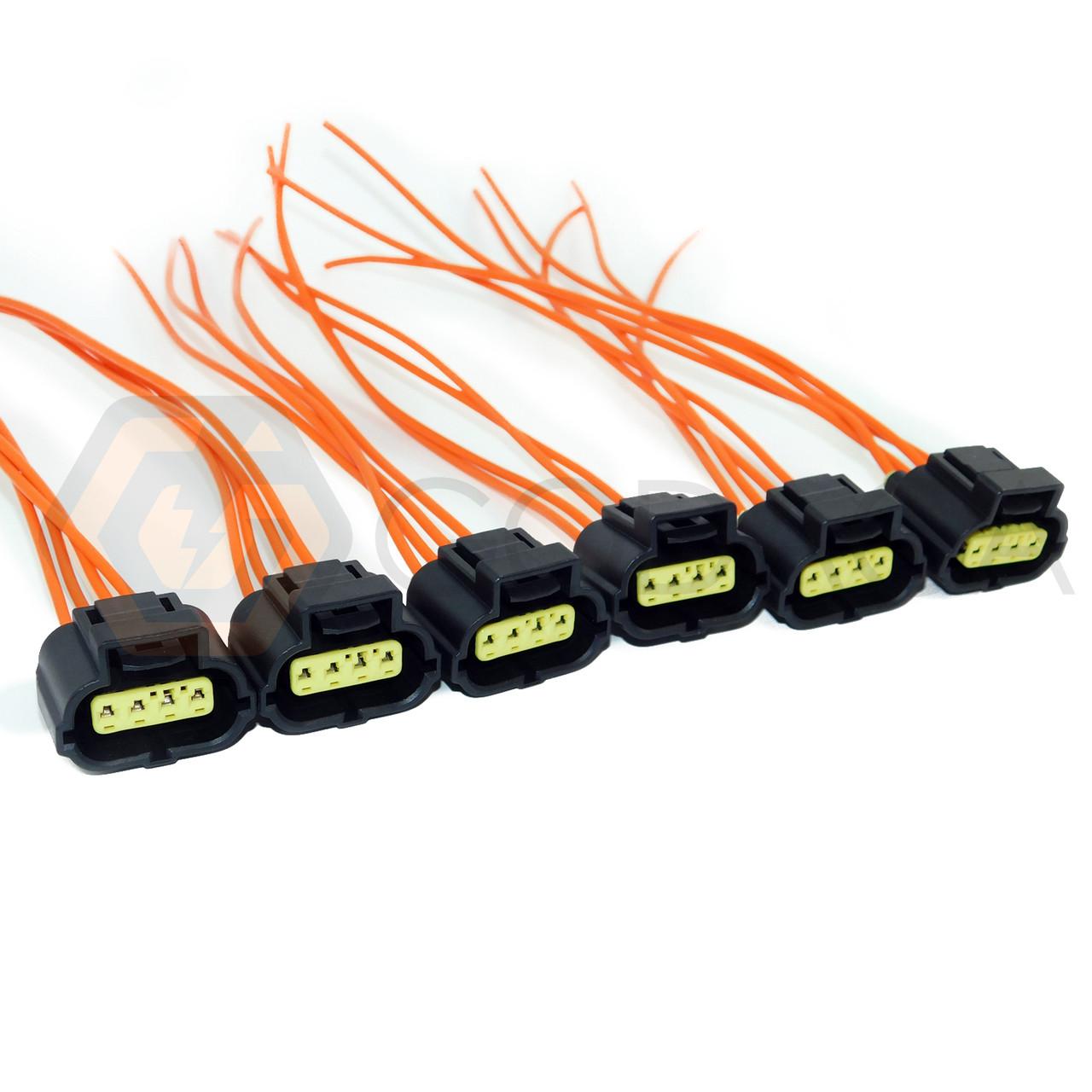 6x 4 Way Pintoyota Lexus Tps Throttle Repair Connector Pigtail Accelerator Pedal Position Sensor 90980 10711