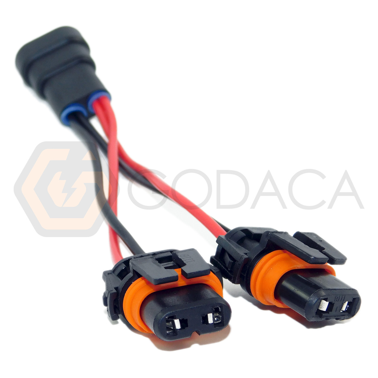 Wire Pigtail Female Ceramic 9006 HB4 Two Harness Head Light Bulb Plug Replace OE