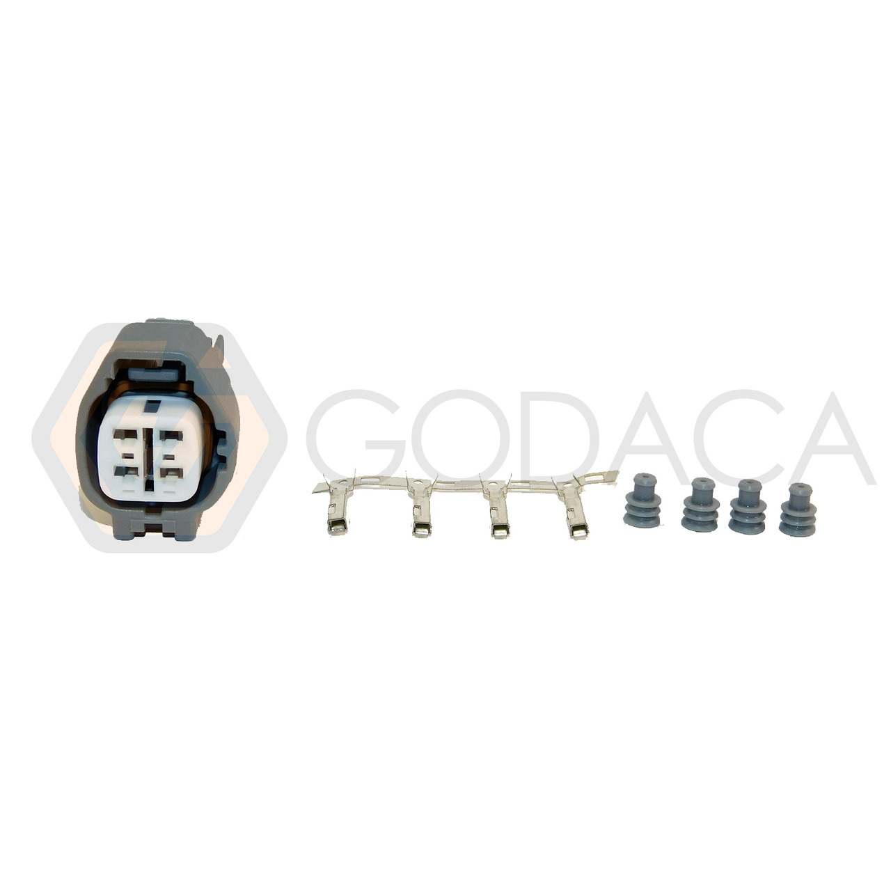 1x connector 4 pin 4-way for oxygen sensor 90980-11178 w/out wire - godaca,  llc