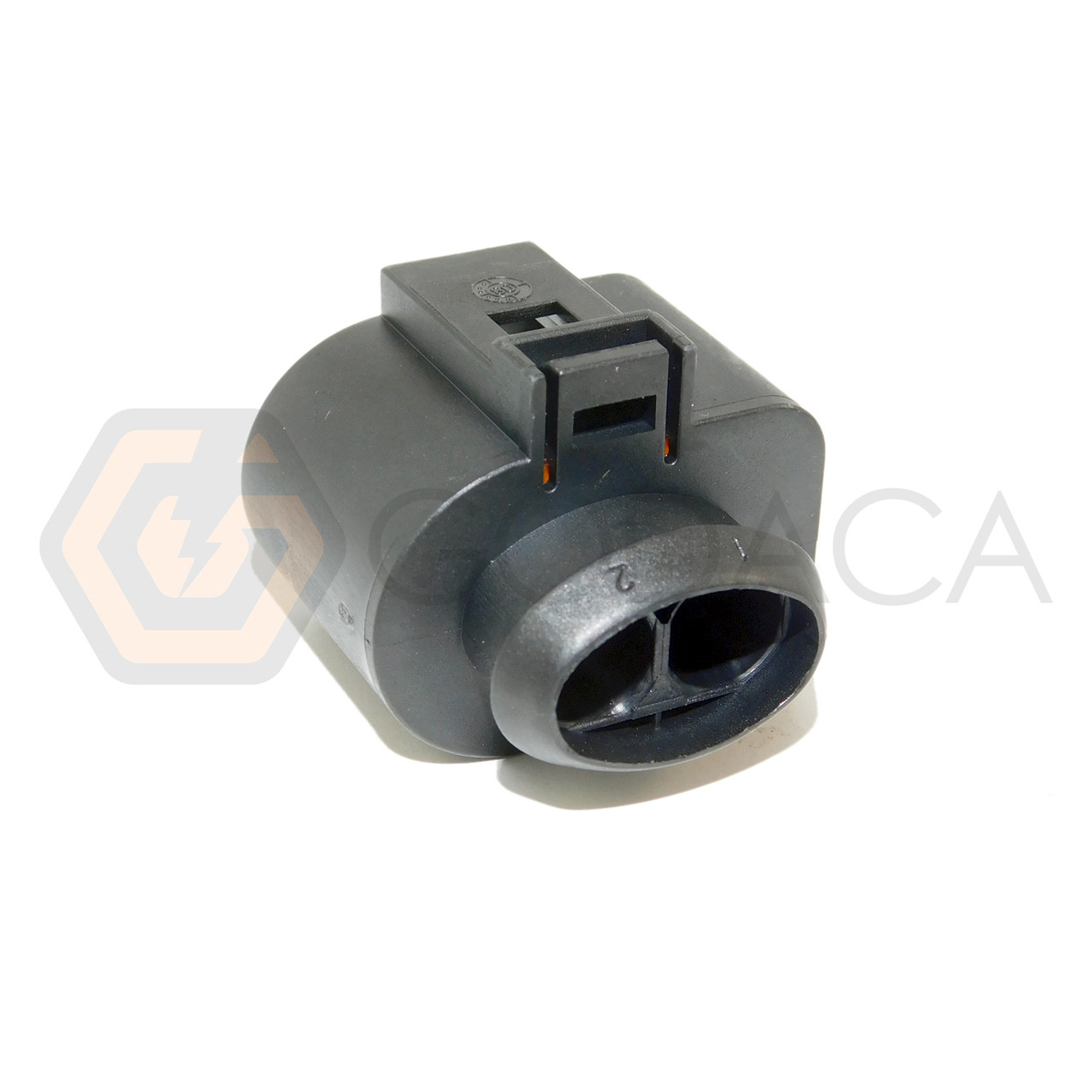 1x Connector 2-way 2 pin for secondary air pump Audi VW 1J0 973 752