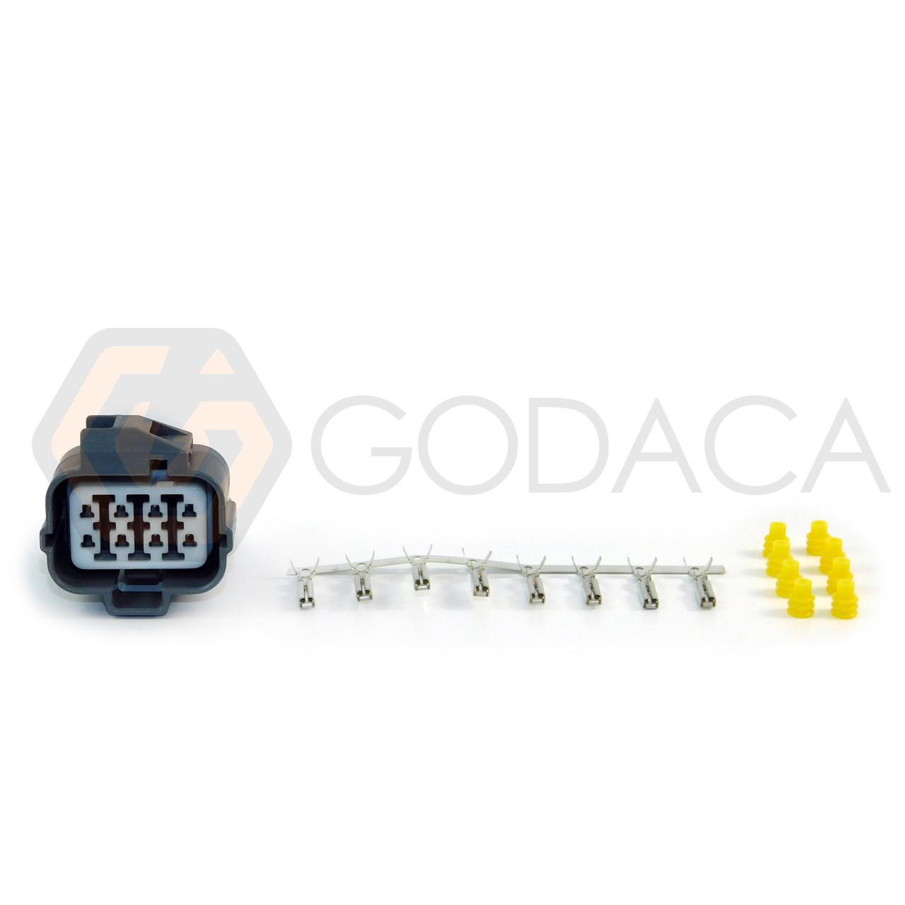 1 x 8-way Honda Acura Distributor repair connector pigtail Sensor OBD1 8pin