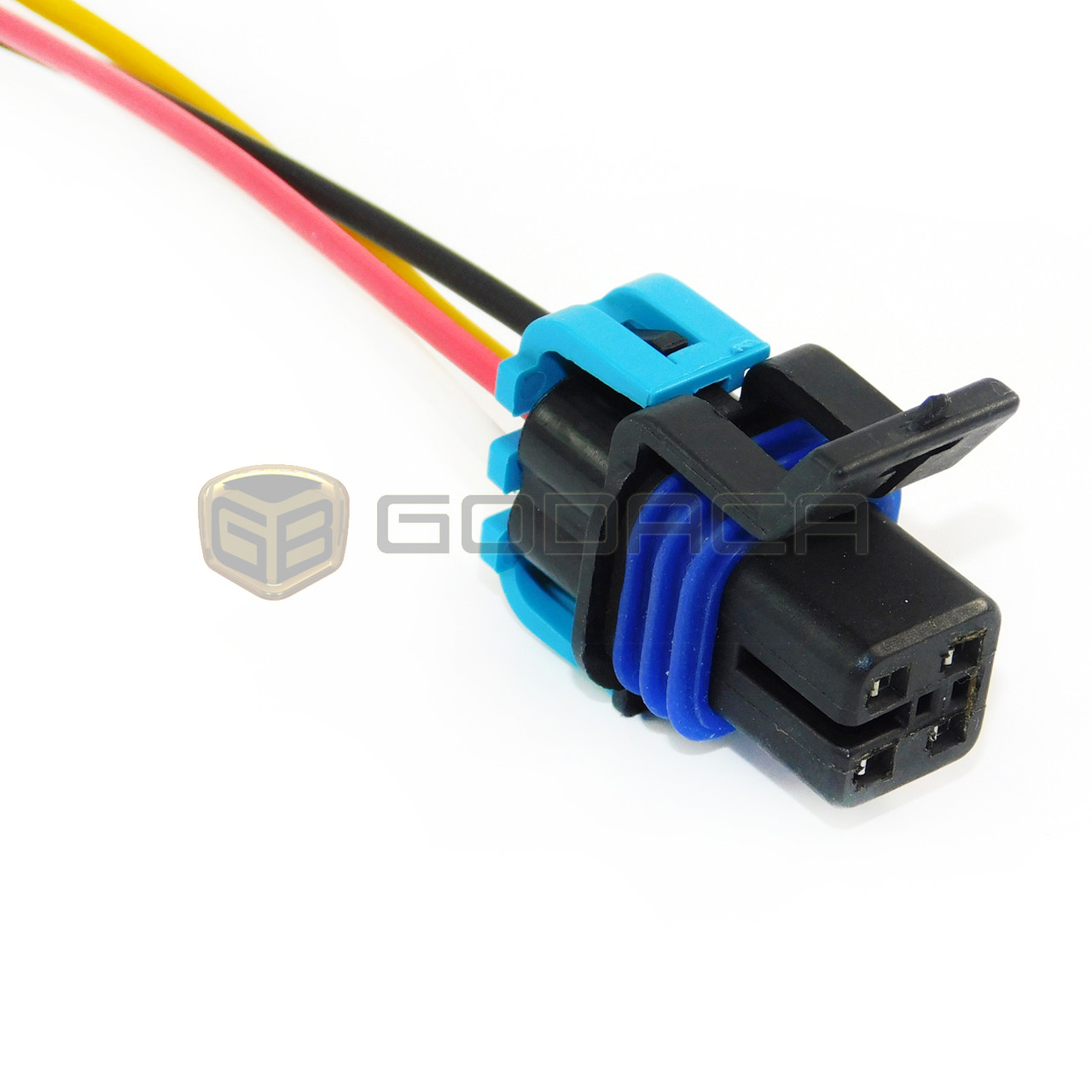 connector for fuel pump 4-way female wiring harness gm chevrolet oxygen  12160482 - godaca, llc