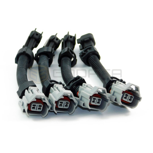 4 x Connector harness adapter Fuel Injector Plugs Denso Female to male EV6