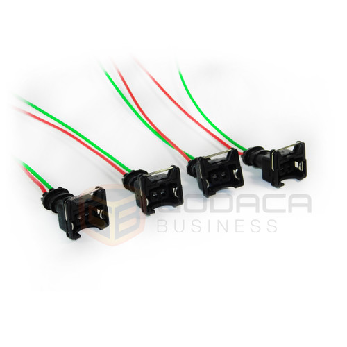 4x Connector Plug Harness EV1 Fuel Injector Harness Pigtail sensor 2-ways