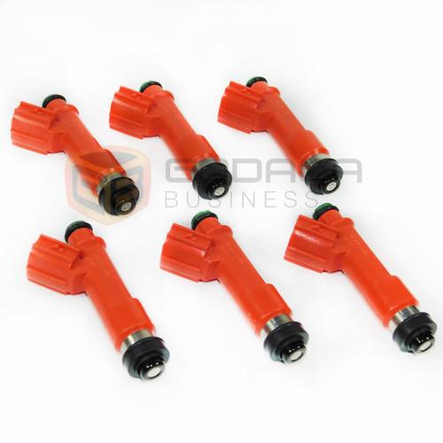 6x 850cc Fuel Injector 1001-87F90 for Toyota Supra Turbo 1JZGTE 2JZGTE 63572
