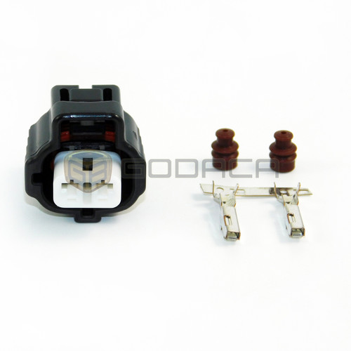 1x Connector 2 Pin 2-way for Toyota Lexus 90980-10923 w/out wires