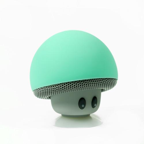 Fashion Cute Turquoise Mushroom Head Mini Suction Speaker Bluetooth Handsfree mic
