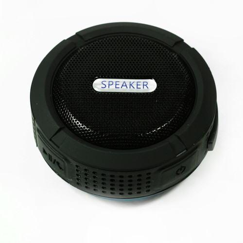 Speaker for camping Black Bluetooth Waterproof Music Mic for cellphone