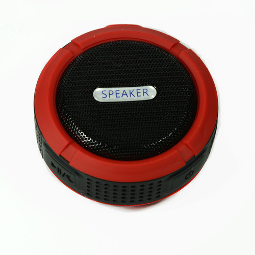 Speaker for camping Red Bluetooth Waterproof Music Mic for cellphone