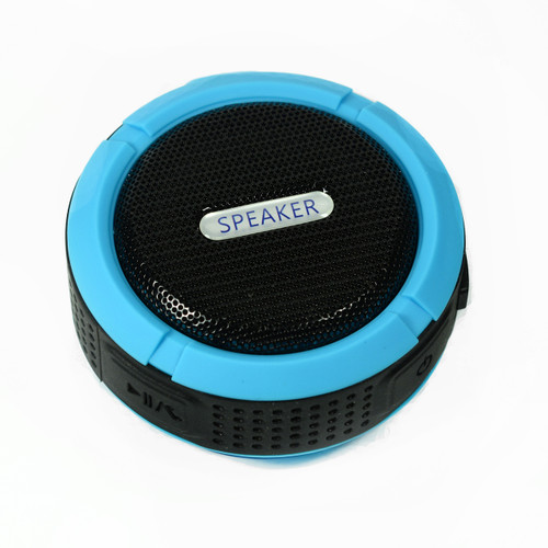 Speaker for camping Blue Bluetooth Waterproof Music Mic for cellphone
