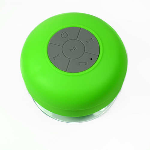 Suction Shower Speaker Green Bluetooth Waterproof Ipx4 Music Mic for cellphone