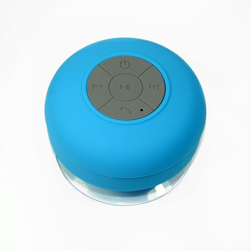 Suction Shower Speaker Blue Bluetooth Waterproof Ipx4 Music Mic for cellphone