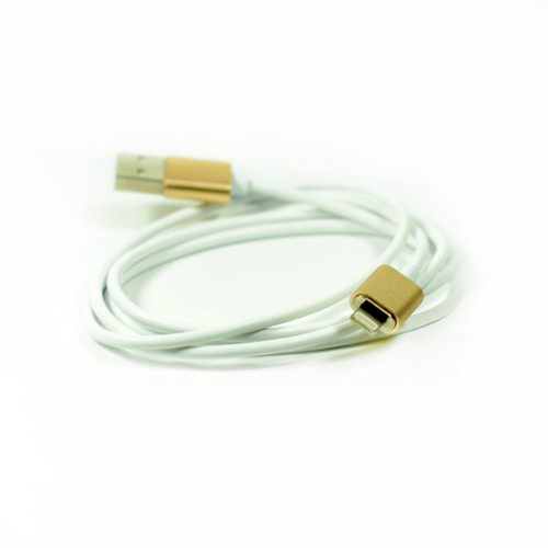 1x Magnetic Usb Cable Elegant Metal Gold Color for Iphone