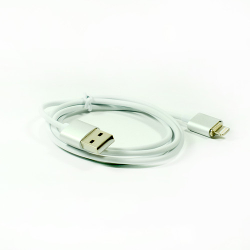 1x Magnetic Usb Cable Elegant Metal Silver Color for Iphone