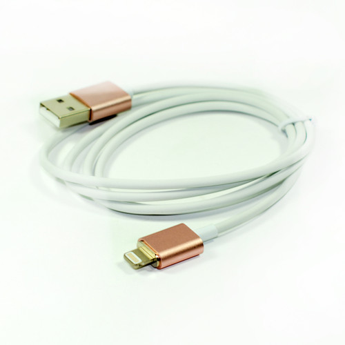 1x Magnetic Usb Cable Elegant Metal Rose Color for Iphone