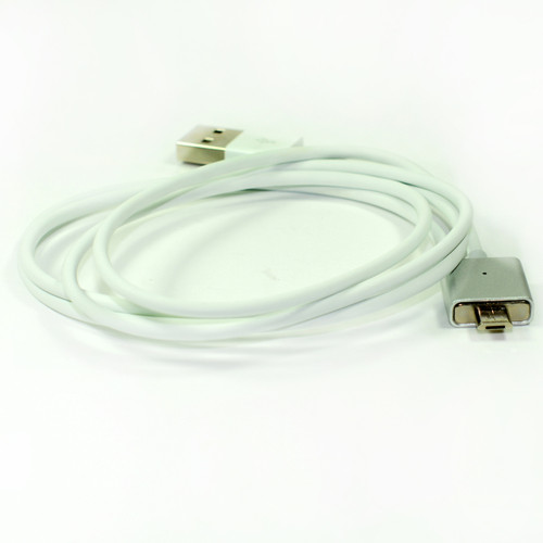 1x Magnetic Usb Cable Elegant Metal Silver Color for Micro Usb