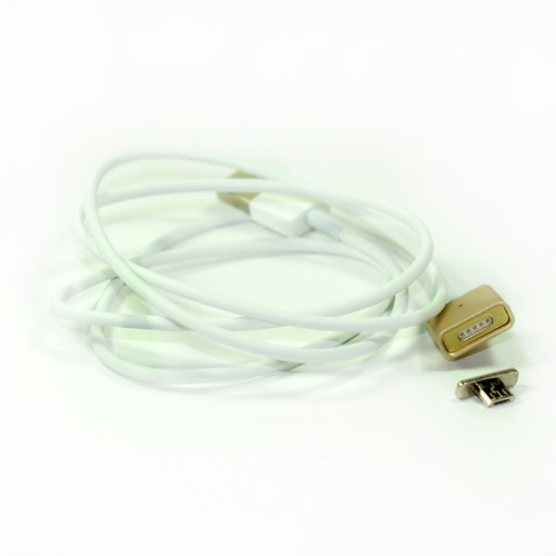 1x Magnetic Usb Cable Elegant Metal Gold Color for Micro Usb