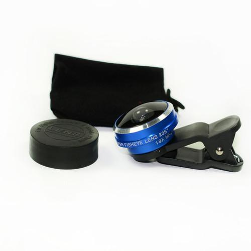 Blue 235° Detachable Wide Clip Fisheye Eye Lens Camera For Cell Phone